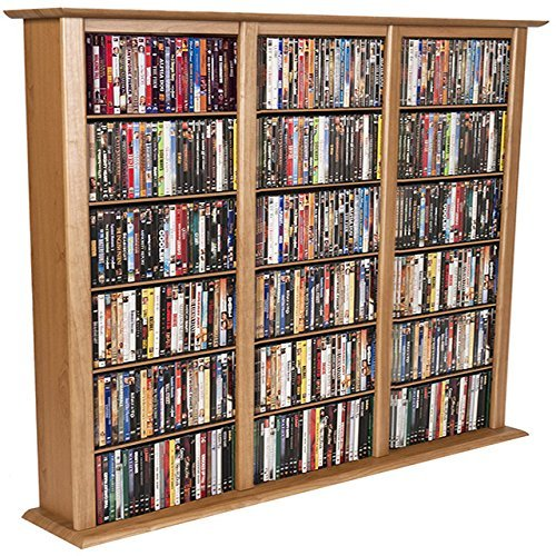 Venture Horizon Media Storage Tower-Regular Triple Oak
