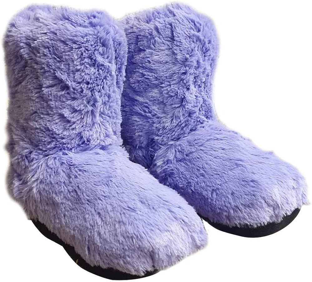 Zapatillas de pelo para mujer, se calientan en microondas, talla ...