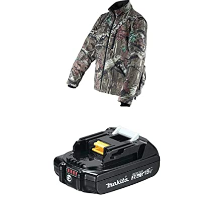 d4dc85b8237ad Makita18V LXT Lithium-Ion Cordless Mossy Oak Heated Jacket, Camo, X-Large &  BL1820B 18V LXT Lithium-Ion Compact 2.0Ah Battery - - Amazon.com