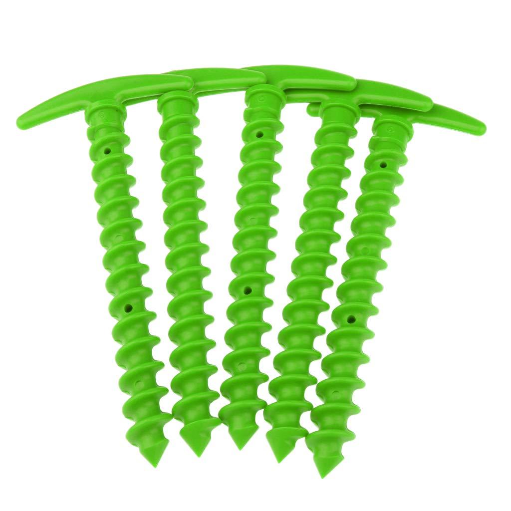 Baoblaze 5 Teile//Paket 14,5 cm Zeltnagel Erdanker aus Kunststoff Erdnagel Zeltpflock