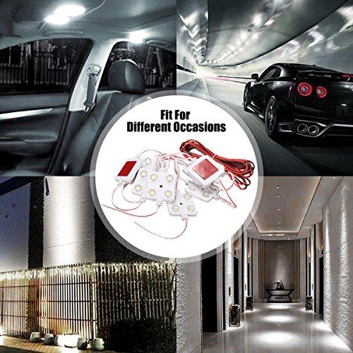 AUDEW 40 Led White Interior Lights Kit, Ampper LED Ceiling Lights Kit For LWB Van Trailer Lorries Sprinter Ducato Transit Boats VW