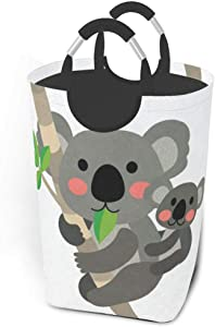 Collapsible Laundry Baskets Cute Funny Koala Family Large Dirty Laundry Hamper Colapsable Collaspable Calaspable Fold Dorm Fabric Laundry Basket For Baby Girl Kids Sock Clothes Camp Travel Rectangle