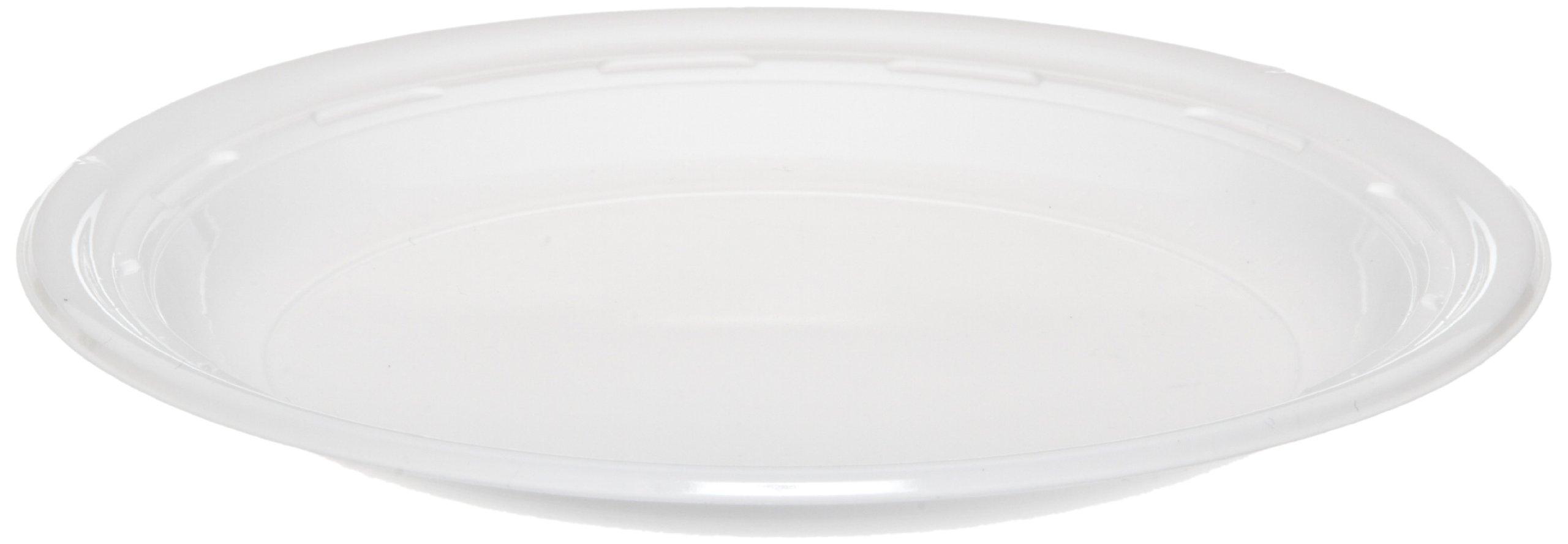 Dart 7PWF 7'' White Impact Plastic Dinnerware Plate (8 Packs of 125)