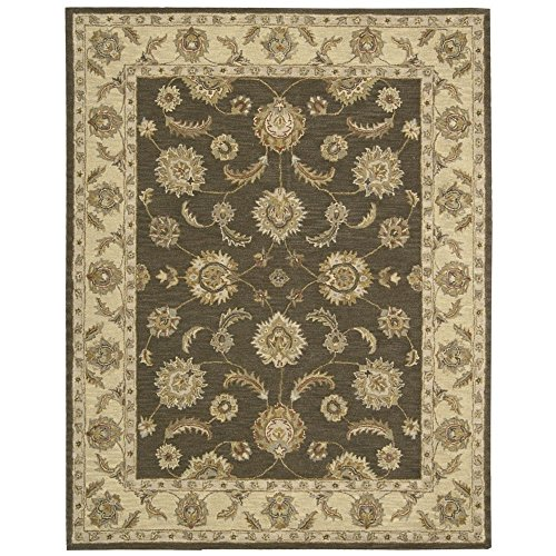 India Mushrooms - Nourison India House (IH89) Mushroom Rectangle Area Rug, 8-Feet by 10-Feet 6-Inches (8' x 10'6