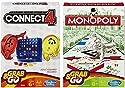 接続4とMonopoly Grab and Go Travelボードゲームバンドル