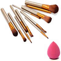 NAKEDPLUS Makeup Brush Set of 12 with Storage box and sponge puff