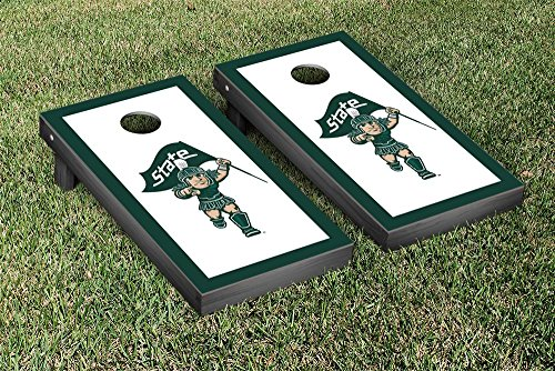 Michigan State Spartans Regulation Cornhole Game Set Border Version 3 by Victory Tailgate