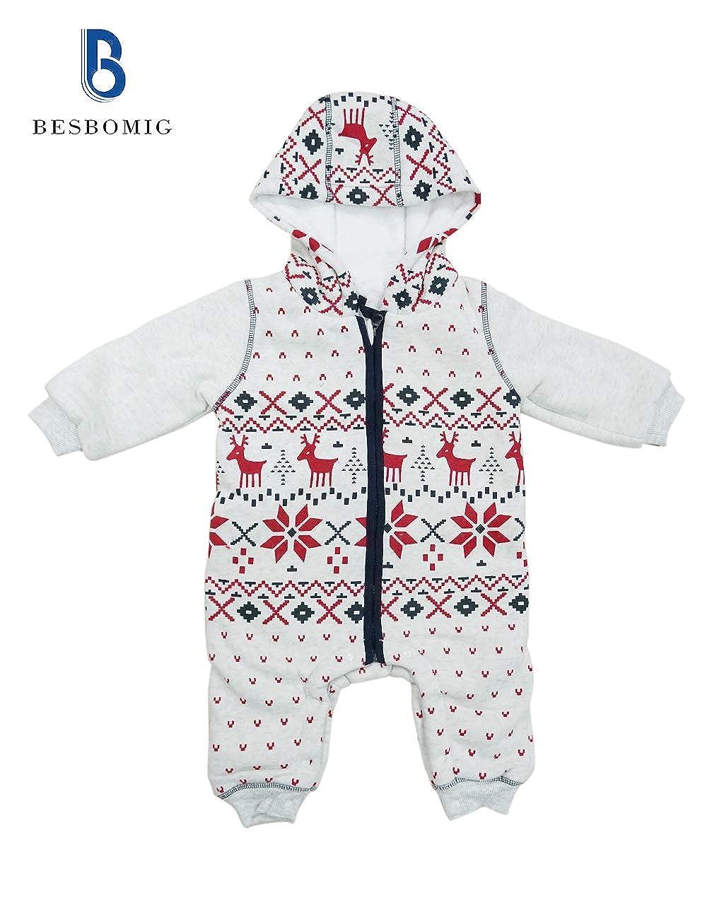 Stampato Cappotto Inverno Cappuccio Jumpsuit Abbigliamento Quotidiano BESBOMIG Neonato Bambini Pagliaccetto Bambino Outfits per i pi/ù Piccoli Unisex Body