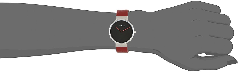 Bering Time Damen-Armbanduhr XS Analog Quarz Leder 14531-642