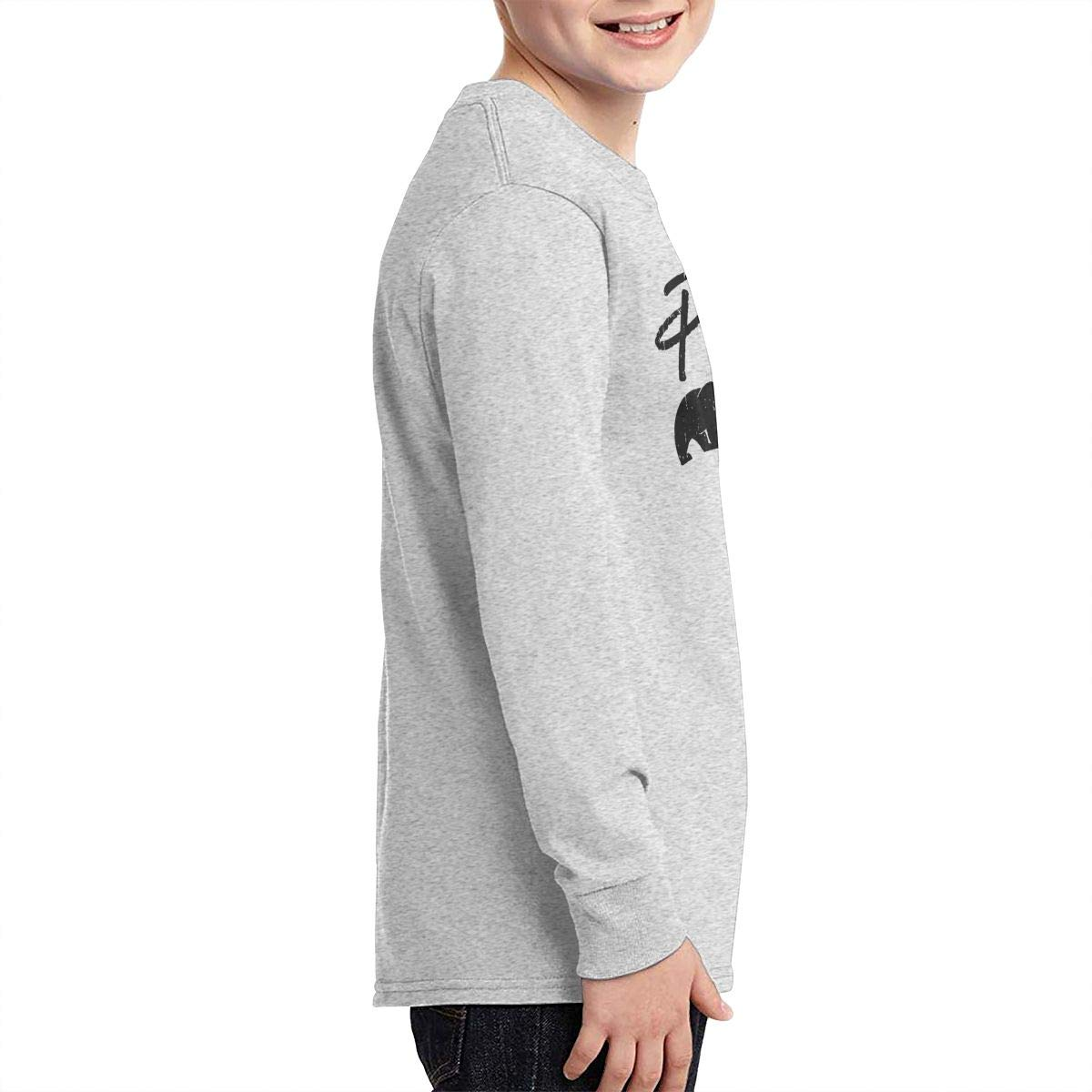 Papa Bear Youth Long Sleeve Moisture Wicking Athletic T Shirts Casual Tee Graphic Tops for Teen Boys Girls