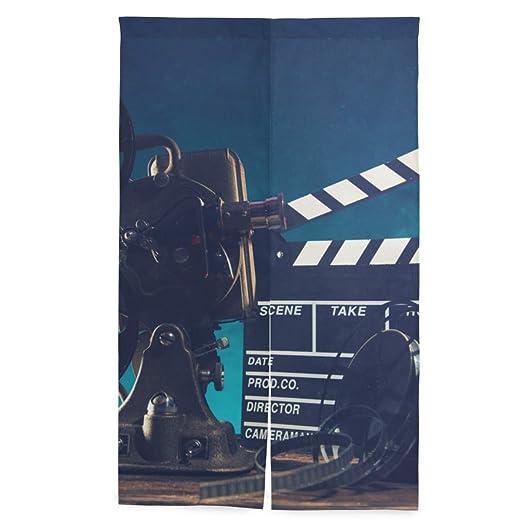 ELIENONO Cortina Japonesa de Puerta,Proyector de Cine Estilo ...