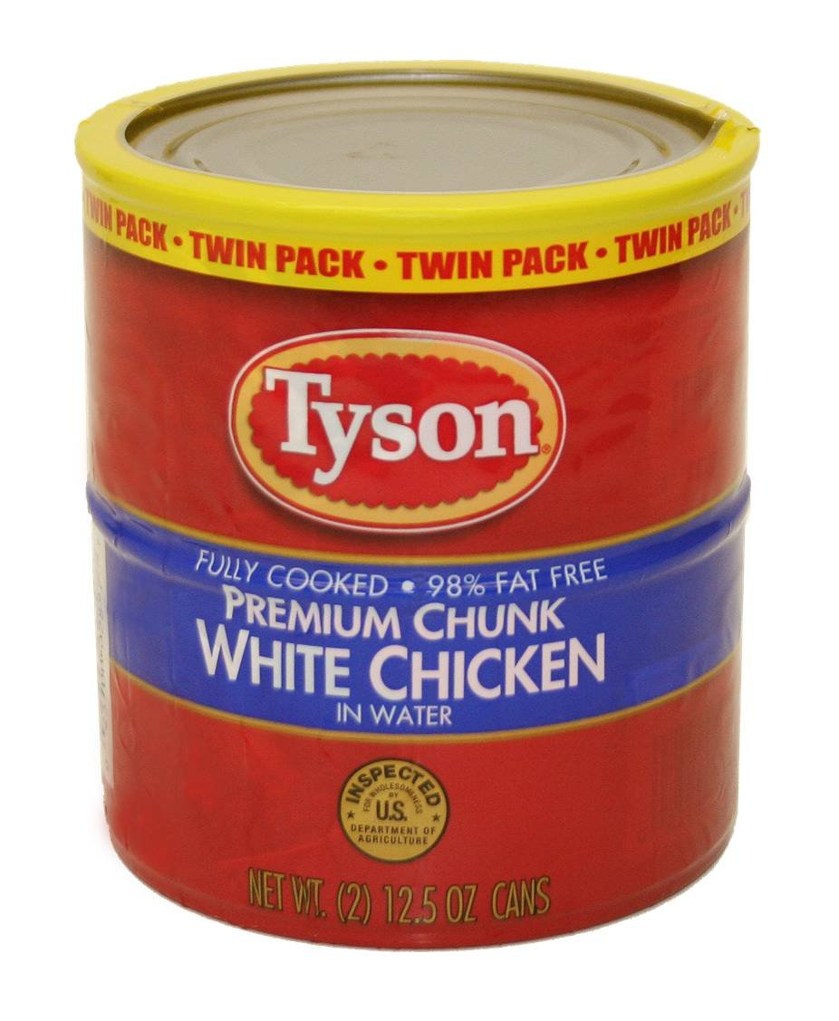 Tyson Foods Premium Chunk White Chicken, 12.5-Ounce (Pack of 6)