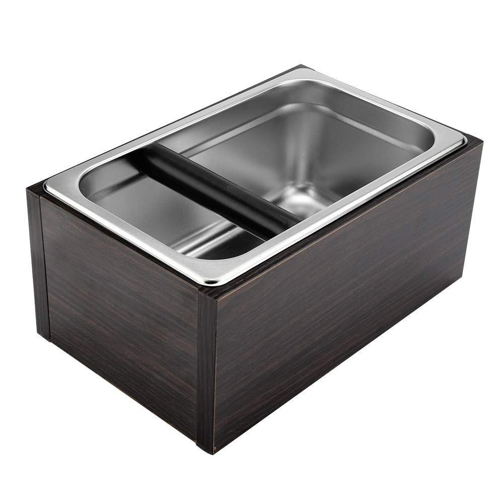 Coffee Knock Box - Stainless Steel Coffee Waste Bin, with Handle, Coffee Grounds Container, Waste Bin