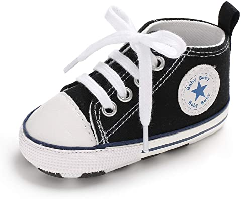 win-full Infant Kid Canvas Sneaker Toddler Unisex Baby Anti-Slip Soft Sole First Walkers Shoes