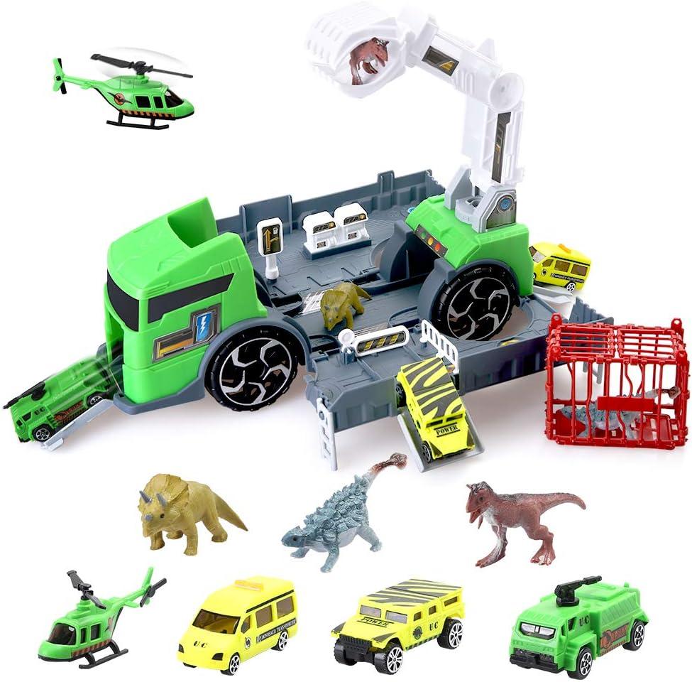 BeebeeRun Truck Tool Toy 36 Piezas Kids Tool Car Toy Set con Take Apart Car para niños pequeños, Kit Educativo de Juguetes para Camiones Set Juego de rol Regalo para niños Niñas Niños