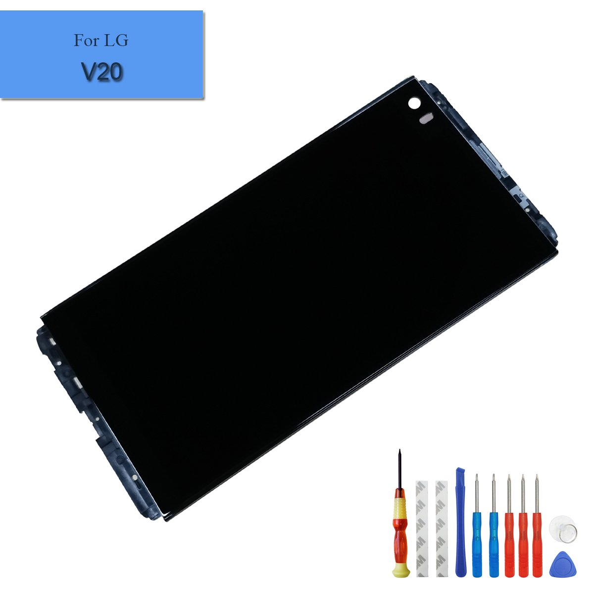 New LCD with Frame Replacement Display Compatible with LG V20 LS997 US996 VS995 H990ds H990 V20 H990TR H910 H915 F800L Touch Screen Digitizer + Tools