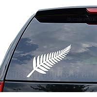New Zealand Silver Fern Decal Sticker Car Truck Motorcycle Window Ipad Laptop Wall Decor - Size (05 inch / 13 cm Wide…