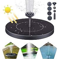 Solar Fuente Bomba, Fuente Solar para Jardin 1.5W Solar Panel Flotador Fuente,Kit de Bomba Sumergible para el Aire Libre Baño de Aves, Estanque, Piscina, Patio, decoración de jardín (S)