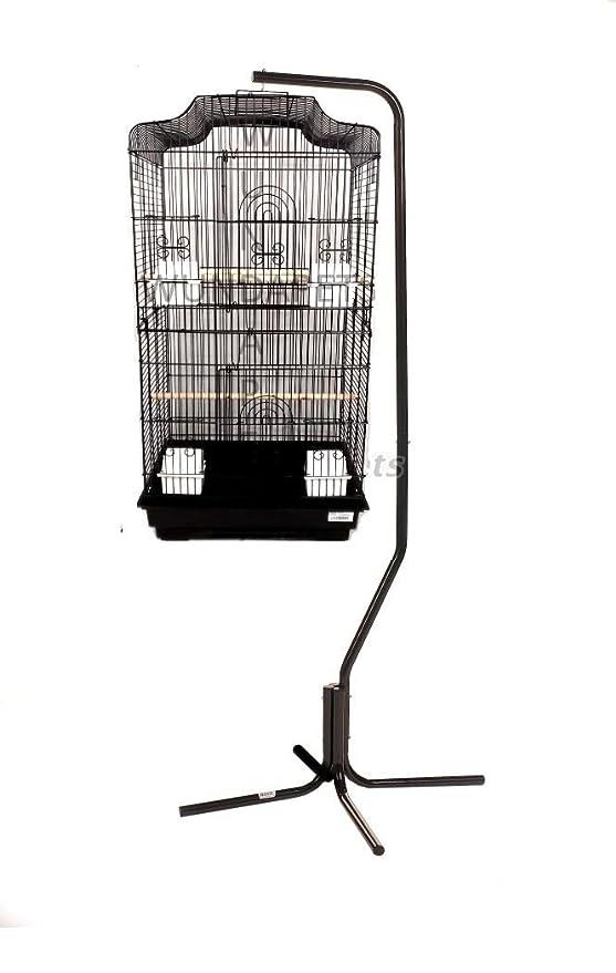 Gran Lotus Budgie Cockatiel Finch Bird Parrot Cage & Soporte de C7 ...