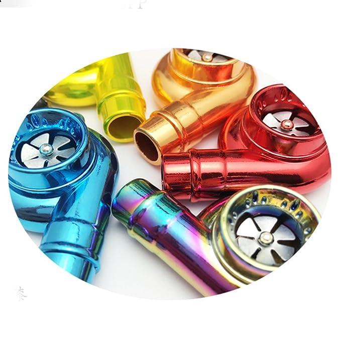 Muchkey - Llavero, diseño de turbina de coche, con sonido, Neo rainbow