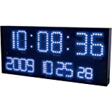 誠時(セイジ) 壁掛電波時計 LED Accurat Blue アクラート ブルー LED-101BU