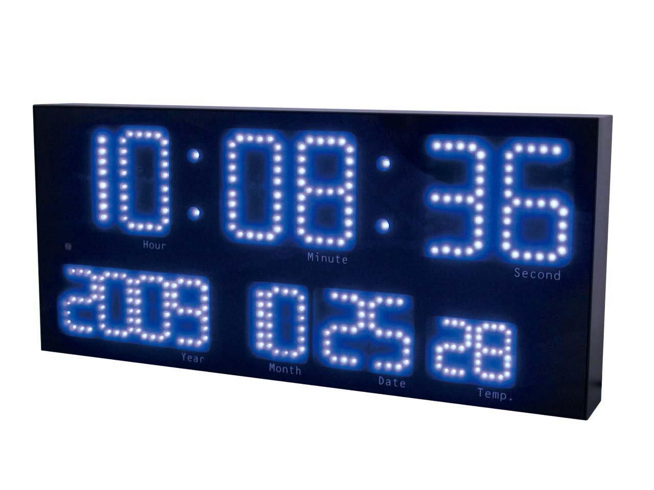 誠時(セイジ) 壁掛電波時計 LED Accurat Blue アクラート ブルー LED-101BU B003B1ZGV8