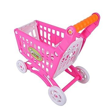 Zerodis Carrito de la compra, juguete para niños supermercados, simulación de la compra,