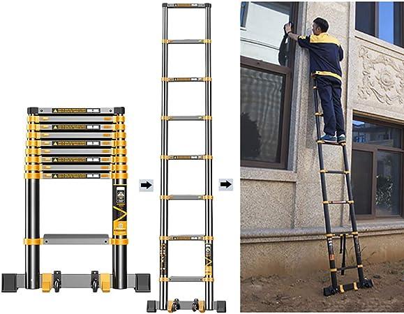 Escalera telescópica Escalera Plegable con Extensión Telescópica De 3.5M / 11.5ft con Pies Antideslizantes, Rectas Portátiles De Aluminio para Trabajo Pesado, Carga 330 LB: Amazon.es: Hogar