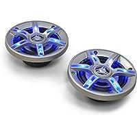 Auna CS-LED4 Rond 3-voies 500W enceinte de voiture - Enceintes de voiture (3-voies, 500 W, 90 dB, Néodyme, 150 g, 90-20000 Hz)