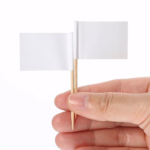 Pangda - 100 marcadores de queso, diseño de banderas blancas ...