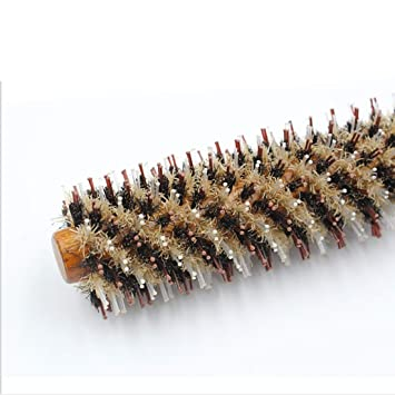 Ydxnbgcjm Styling Essentials Cerdas de Jabalí Natural Cepillo para el Pelo-pera Flor Pelo Recto Soplado Estilo Peine para Mujeres-Round Styling Hair Brush ...