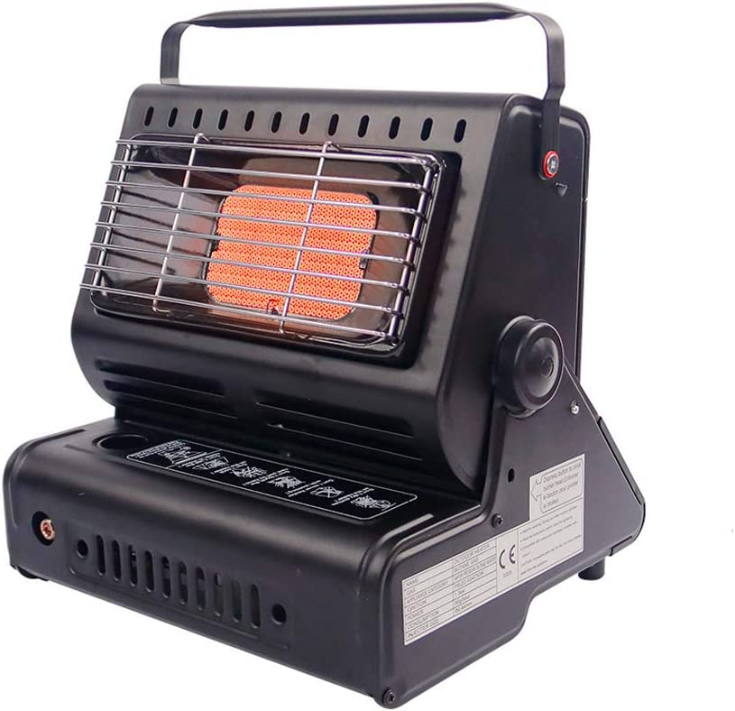 PORLAE Outdoor Butane Heater, Space Heater for Camping Tents, Portable Camping Stove (Black)