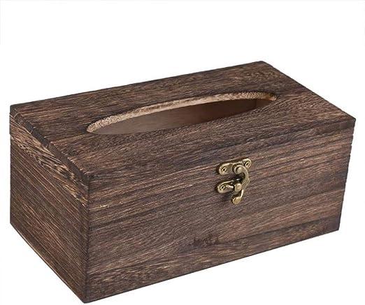 NILOVEDE Hogar Caja De Pañuelos Caja De Pañuelos De Madera Retro ...