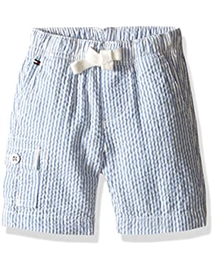 Tommy Hilfiger Baby Boys' Seersucker Pull On Short