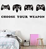 Game Wall Decal Video Gamer Boy Wall Decal Peel & Stick Games Wall Stickers Boys Bedroom Playroom Decor