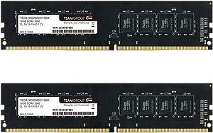 TEAMGROUP Elite DDR4 16GB Kit (2 x 8GB) 2400MHz PC4-19200 CL16 Unbuffered Non-ECC 1.2V UDIMM 288 Pin PC Computer Desktop Memory Module Ram Upgrade - TED416G2400C16DC01-16GB Kit (2 x 8GB)