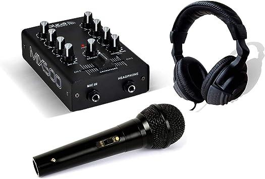 Pack DJ Sono mesa de mezclas mix500 + auricular con micrófono + ...
