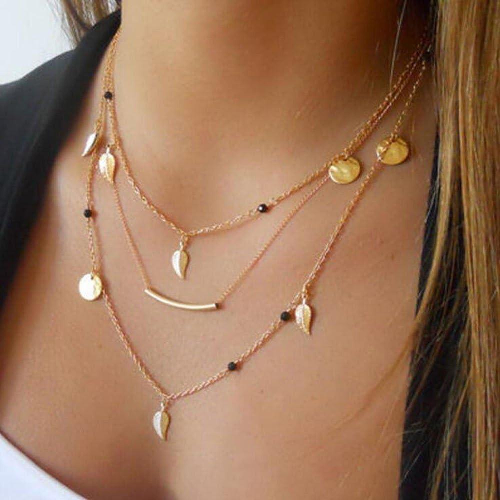 Yean collar largo multicapa collar para las mujeres y las niñas