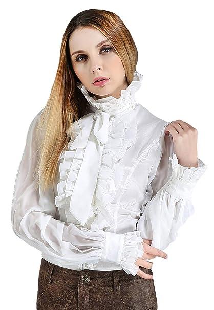 molto carino 4a828 72185 Pentagramme Camicia Bianca Elegante Gotico Steampunk Collo ...