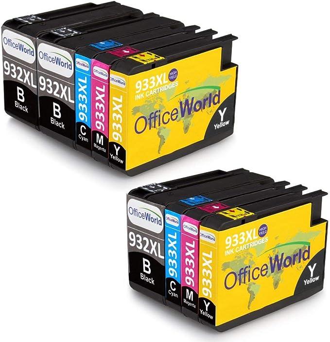 OfficeWorld 932XL 933XL Alta Capacidad Cartuchos de tinta ...