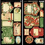 Graphic 45 12 Days of Christmas Tags and Pockets Card Stock Sheets offers