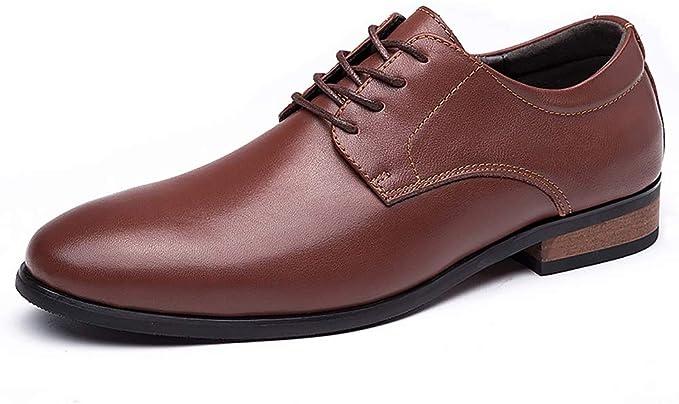 WMZQW Zapatos Oxford de Cordones para Hombre,Comodos