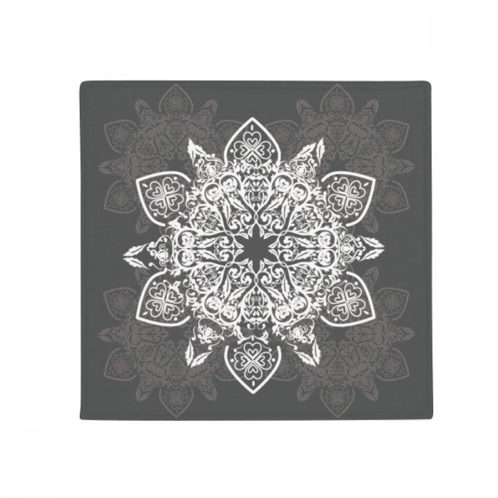 DIYthinker Arabic Style Black White Pattern Anti-Slip Floor Pet Mat Square Home Kitchen Door 80Cm Gift