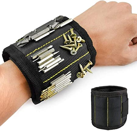 Tools Arm Band Bracelet Cuff Magnetic Wrist Band for Holding Screws /& Nails