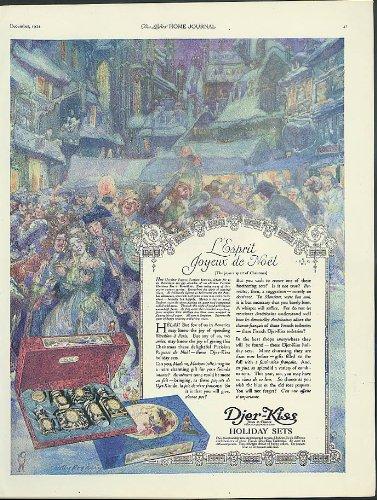 Djer Kiss - L'Esprit Joyeux de Noel Djer-Kiss Holiday Perfume sets ad 1921