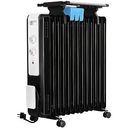 AINUO Calentador de radiador lleno de aceite para el hogar y la cocina y la oficina