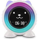 ICODE Sleep Training Alarm Clock for Kids, Wake Up Light Alarm Clock,7 Colors Changing Kids Night Light for Toddlers Boys Girls