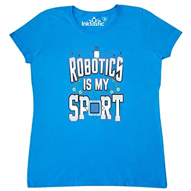 66c291f9 Amazon.com: inktastic - Robotics is My Sport Funny Engineering Women's T- Shirt 33620: Clothing