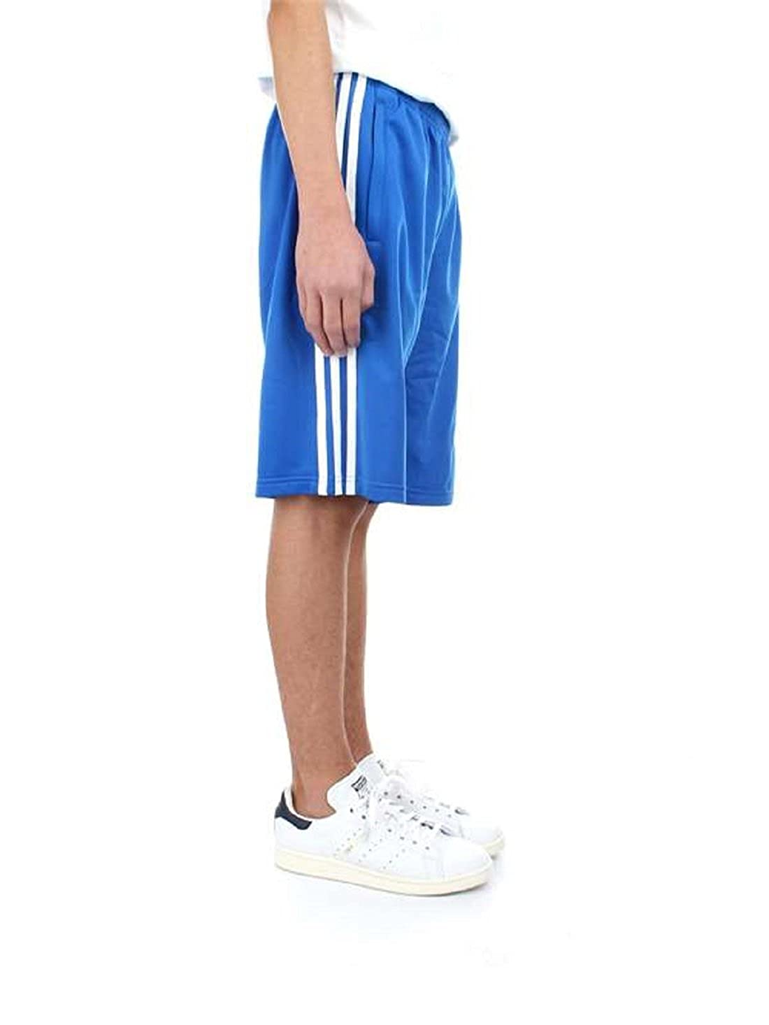 XS, Blue//White adidas Originals Big Boys Originals 3 Stripes Shorts