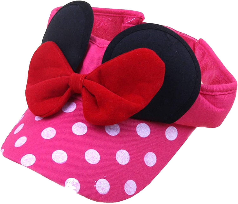 2019 Cotton Visors hat Minnie Design Big Bow Cartoon Cap Summer Fishing hat Girl Children Outdoor Hiking Cap